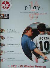 Program 1997/98 1. Fc Kaiserslautern - Werder Bremen