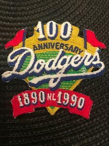 """LA Los Angeles Dodgers Vintage  Embroidered Iron On Patch 3"""" X 3"""""""