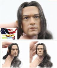 """1/6 Takeshi Kaneshiro Asian Male Head Rooted hair For Phicen 12"""" Figure ❶USA❶"""