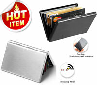 RFID Blocking Credit Card ID Holder Slim Money Travel Wallet Men Stainless Steel