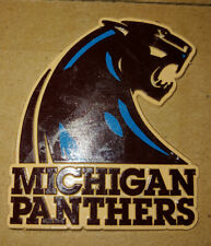 USFL Michigan Panthers Football Large Sized Rubber Magnet