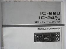 ICOM-22U-24EG (GENUINE INSTRUCTION MANUAL ONLY)..........RADIO_TRADER_IRELAND.