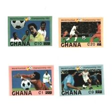 Ghana 1984 SC# 861,864,868,872 World Cup Soccer - Imperf Set of 4 Surcharged MNH