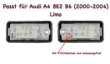 2x Top LED SMD Kennzeichenbeleuchtung Audi A4 8E5 B6 Avant 1.6 CB