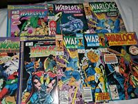Marvel 8 Comic book Lot Warlock and the Infiniti watch / Warlock Chronicles fn