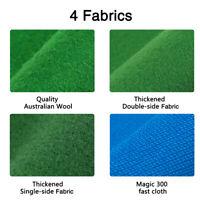 7/8/9/FT Worsted Pool Table Cloth Billiard Felt Mat Cover Fast Pre-Cut Rails