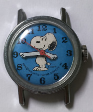 Vintage 1958 Snoopy Watch Schultz United Feature Syndicate Watch Blue Dial