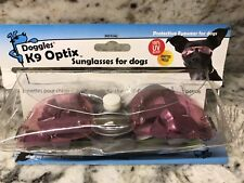 Doggles K9 Optix Dog Sunglasses, Pink Lens, Size LG NIP/ PRICE REDUCED!!