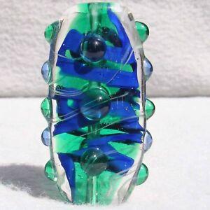 REGATTA Handmade Art Glass Focal Bead Flaming Fools Lampwork Art Glass SRA