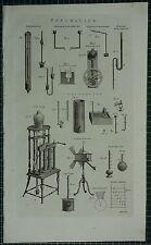 1786 PRINT ~ PNEUMATICS BAROMETER EUDIOMETER ANEMOMETER FREEZING ATMOSPHERE