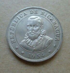 Nicaragua coin 1954 - 50 centavos uncirculated rare