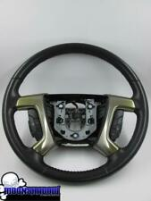 08-09 GM HUMMER H2 SUV SUT OEM UPDATED BLACK LEATHER STEERING WHEEL FACELIFT