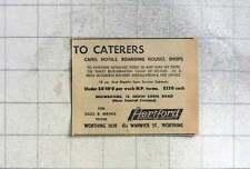 1949 Hertford Refrigeration South Farm Road Worthing