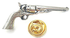 Smith and Western Gun Handcrafted from English Pewter in the UK Lapel Pin Badge