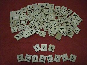 Complete Set of Scrabble Wood Letter Tiles - 100 pc - Arts & Crafts, Labels, Etc