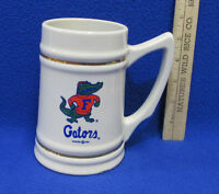 Vintage 1991 Florida Gators Stein Mug Ceramic w/ Gators Logo Display Use Only
