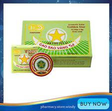 12 Boxes x 8g Golden Star Balm - Cao Sao Vang - Free Shipping