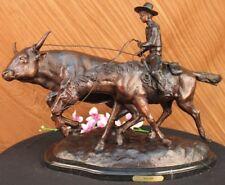 Bolter Charles Russell Western Art West Farmer Bronze Sculpture Statue Figure T