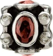 Bead Charm JB-17B Royal w/Red & Clear CZ, Auth. Chamilia Sterling .925 Silver