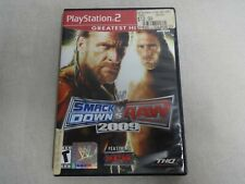 Smackdown Vs. Raw 2009 Sony Playstation 2 PS2 Game Complete Free Ship