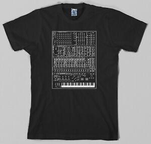 Synthesizer T Shirt - analog, moog, modular 80s synth keyboard piano korg
