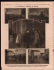 WWI General Joffre Ruines Cathédrale Notre-Dame de Reims War 1916 ILLUSTRATION
