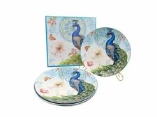 4pcs Peacock  Plate  Dinner Plate  Home Kitchen Fine Bone China Collectable Gift