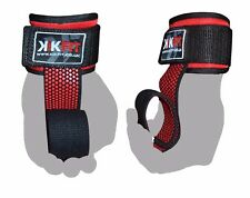 KIKFIT Weight Lifting Gym Straps Hand Bar Gel Wrist Support Wraps Deadlift