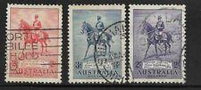 Australia Scott #152-#154 used 1935, 25th Anniv. reign of King George V, f/vf
