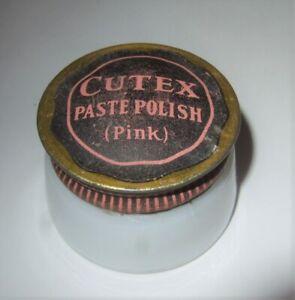 Cutex Nail Polish Milk Glass Jar