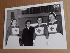 1950's Photograph Red cross Nurses Vintage uniforms Social history 6.5 x5 inches