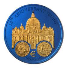 Liberia 10th Anniversary of the Euro San Marino $5 2006 Br. Unc Niobium Coin KM-