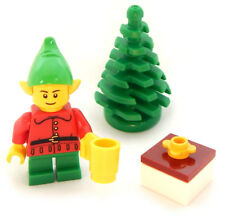 NEW LEGO CHRISTMAS ELF MINIFIG figure minifigure santa claus tree present 10245