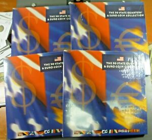 2002  THE 50 STATE QUARTERS & EURO COIN COLLECTION SEALED SETS