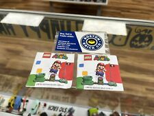 RARE LEGO Super Mario Set of TWO Limited Edition Coins GOLD & SILVER New