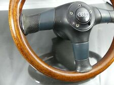 #RARE / VICTOR _ WOODEN LEATHER 3-SPOKE SPORT STEERING WHEEL