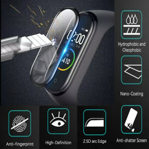 Screen Protector Full Cover Watch Protective Film for Xiaomi-Mi Band 4/5/6 AU
