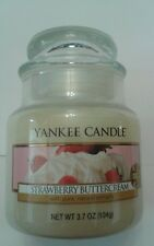 YANKEE CANDLE 3.7 OZ  BABY JAR  STRAWBERRY BUTTERCREAM