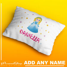 Personalised Children Princess Pillowcase Printed Gift Custom Made Print Kids