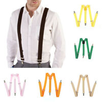 Unisex Costumes Accessory Polyester Suspenders Strong Elastic Fashion Braces