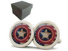 Captain America Shield Vintage Distressed Flag Premium Qualität Ovp Manschetten