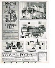 PUBLICITE ADVERTISING  1960  ROCHE & BOBOIS ARIAD  meubles