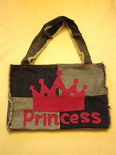 Handmade jenniwren Originals PRINCESS GRANDI Denim spalla shopping Tote Bag
