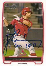 James Ramsey St Louis Cardinals 2012 Bowman Signed Card