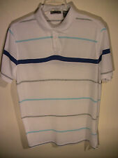 DKNY Men's POLO  Striped Cotton Shirt Medium NEW