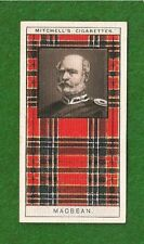 Macbean Clan Tartan 1927 original card Highland Clan Kinchyle