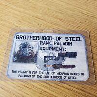 Fallout ID Badge - Brotherhood Of Steel Rank: Paladin costume cosplay