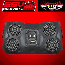 SSV Works 4 Speaker Overhead Stereo Sound Bar XP POLARIS RZR 2014-2017 XP1000
