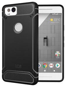 TUDIA TAMM Ultra Slim Carbon Fiber TPU Skin Cover Case for Google Pixel 2 Case