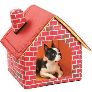 Pet House Dog Cat Puppy Portable House Brick Warm and Cozy Pet Bed Sleeping Mat